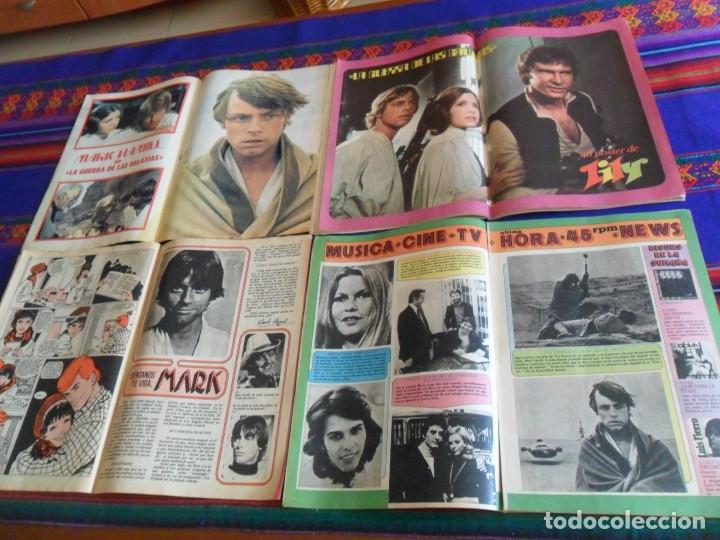 STAR WARS CON MARK HAMILL LILY 855 CON Nº 0 GINA 851 1095 EXTRA PRIMAVERA 1978. REGALO SUPER LILY 28 (Tebeos y Comics - Bruguera - Lily)