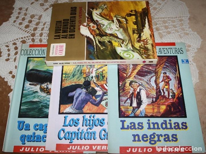 JULIO VERNE LIBRO Y COMICS LOTE (Tebeos y Comics - Bruguera - Otros)