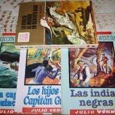 Tebeos: JULIO VERNE LIBRO Y COMICS LOTE. Lote 173550834