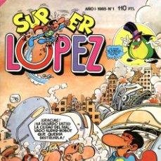 Tebeos: SUPER LÓPEZ-1 (BRUGUERA, 1985) CON POSTER DE JAN EN PÁGINAS CENTRALES.. Lote 173607507