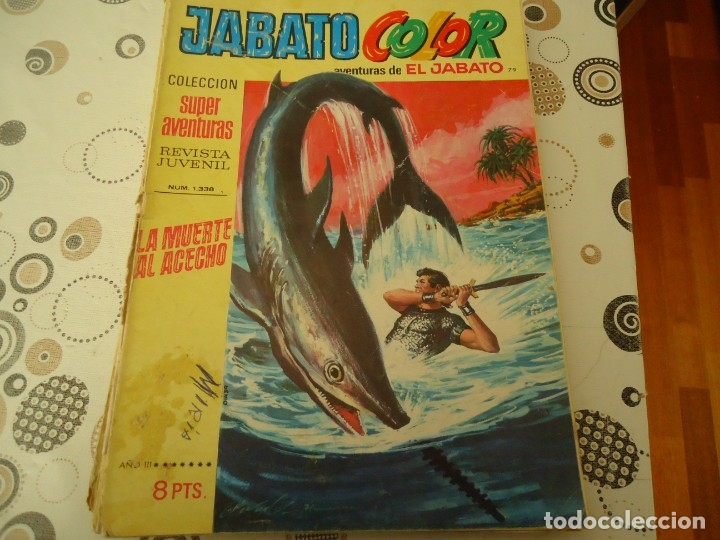 JABATO COLOR PRIMERA EPOCA Nº 79 LA MUERTE AL ACECHO (Tebeos y Comics - Bruguera - Jabato)