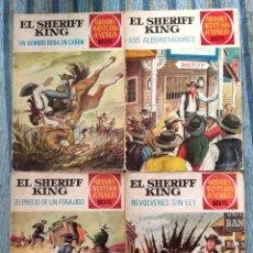 Tebeos: GRANDES AVENTURAS JUVENILES: EL SHERIFF KING N° 34, 36, 43 Y 59 - ANTONIO BERNAL (BRUGUERA 1972). Lote 173839259