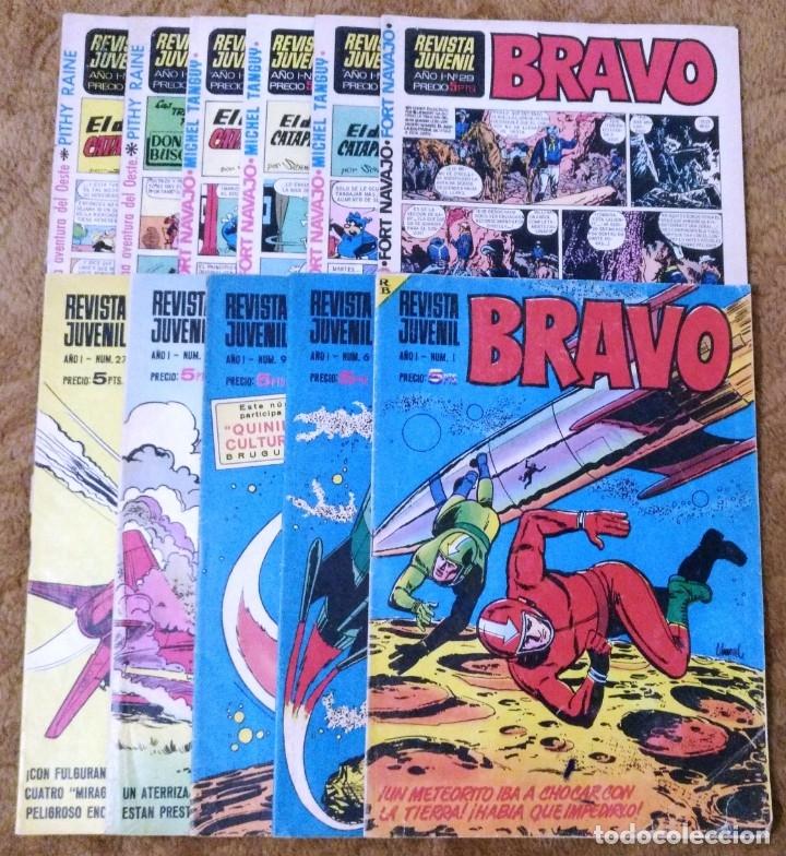 BRAVO Nº 1, 6, 9, 17, 27, 29, 35, 37, 38, 41 Y 42 (BRUGUERA 1968) (Tebeos y Comics - Bruguera - Bravo)