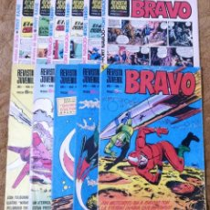 Tebeos: BRAVO Nº 1, 6, 9, 17, 27, 29, 35, 37, 38, 41 Y 42 (BRUGUERA 1968). Lote 150616206