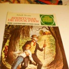 Livros de Banda Desenhada: MARK TWAIN. AVENTURAS DE HUCK FINN JOYAS LITERARIAS JUVENILES 40 1972 (ESTADO NORMAL). Lote 173934634