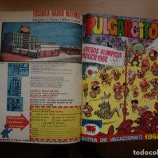 Tebeos: PULGARCITO - TOMO CÓN 20 NÚMEROS - MAS EXTRA VACACIONES 1968 - BRUGUERA. Lote 173956229