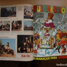 Tebeos: PULGARCITO - TOMO CÓN 20 NÚMEROS - MAS ALMANAQUE PARA 1968 - BRUGUERA. Lote 173956304