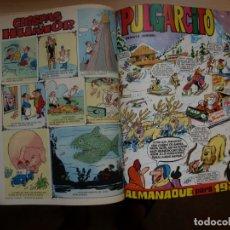 Tebeos: PULGARCITO - TOMO CÓN 25 NÚMEROS - MAS ALMANAQUE PARA 1970 - BRUGUERA. Lote 173957095