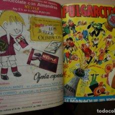 Tebeos: PULGARCITO - TOMO CÓN 20 NÚMEROS - MAS EXTRA DE PRIMAVERA 1966 Y ALMANAQUE PARA 1966 - BRUGUERA. Lote 173957879