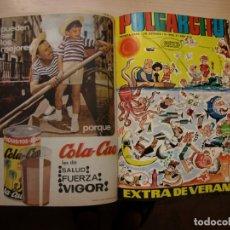 Tebeos: PULGARCITO - TOMO CÓN 20 NÚMEROS - MAS EXTRA DE VERANO 1966 - BRUGUERA. Lote 173958038