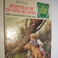 Tebeos: JULIO VERNE. AVENTURAS DE UN NIÑO IRLANDÉS. JOYAS LITERATIAS JUVENILES Nº 126 1975 (ESTADO NORMAL). Lote 173976484