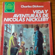Tebeos: VIDA Y AVENTURAS DE NICOLAS NICKLEBY DE CHARLES DICKENS- JOYAS LITERARIAS JUVENILES Nº 148- BRUGUERA. Lote 174129283