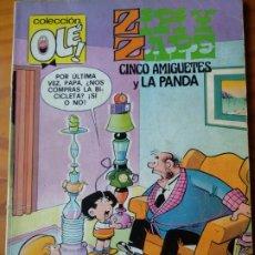 Livros de Banda Desenhada: ZIPI Y ZAPE, CINCO AMIGUETES Y LA PANDA - COLECCION OLE! Nº 184- BRUGUERA 1982-. Lote 174250132