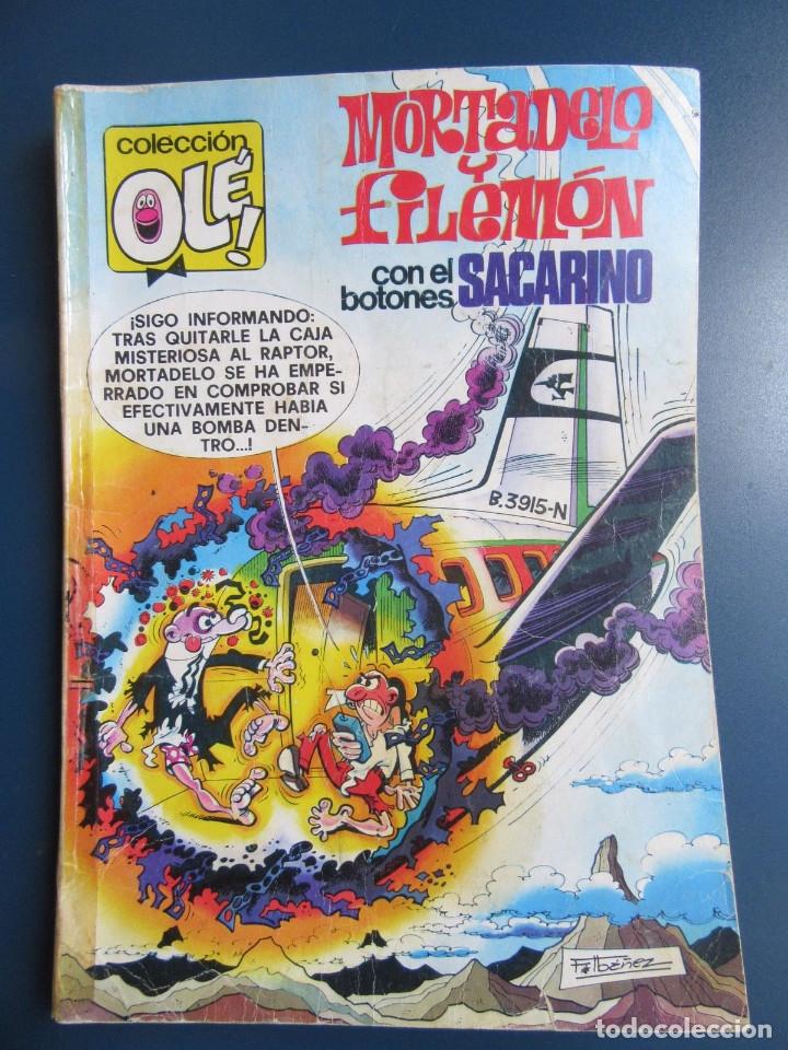 COLECCIÓN OLÉ. MORTADELO Y FILEMÓN CON EL BOTONES SACARINO. Nº 165. 2ª EDICÓN 1981. (Tebeos y Comics - Bruguera - Ole)