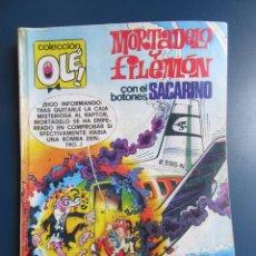 Tebeos: COLECCIÓN OLÉ. MORTADELO Y FILEMÓN CON EL BOTONES SACARINO. Nº 165. 2ª EDICÓN 1981.. Lote 174365395