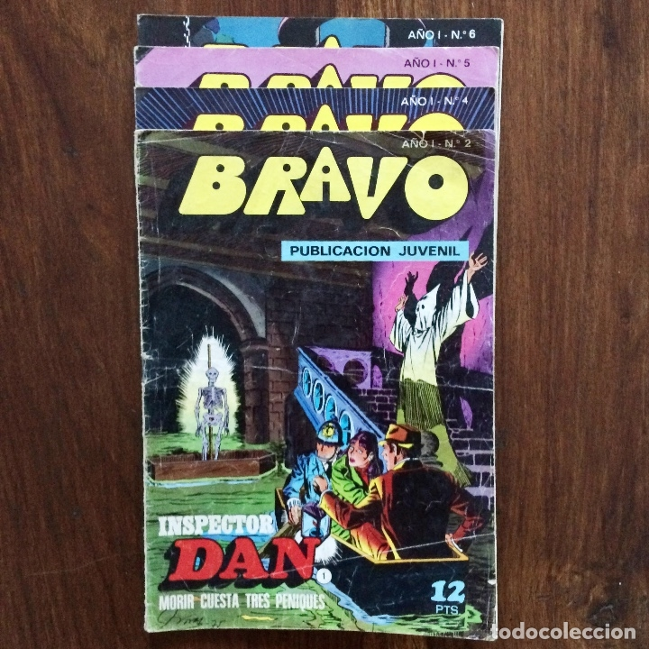 BRAVO PUBLICACIÓN JUVENIL - NÚMEROS 2,4,5,6 - AÑO I - BRUGUERA (Tebeos y Comics - Bruguera - Bravo)