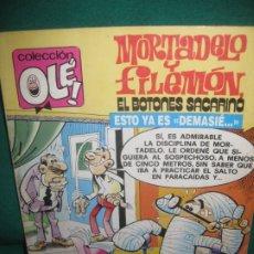 Tebeos: MORTADELO Y FILEMON, EL BOTONES SACARINO. COLECCION OLE M.227. EDICIONES B. 1991.. Lote 174548238