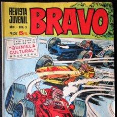 Tebeos: REVISTA JUVENIL BRAVO AÑO I Nº 3 - BRUGUERA. Lote 174744099