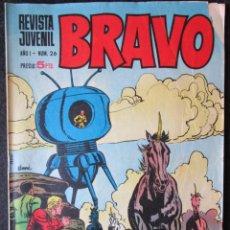 Tebeos: REVISTA JUVENIL BRAVO - AÑO 1 Nº 26 - BRUGUERA 1969. Lote 174748808