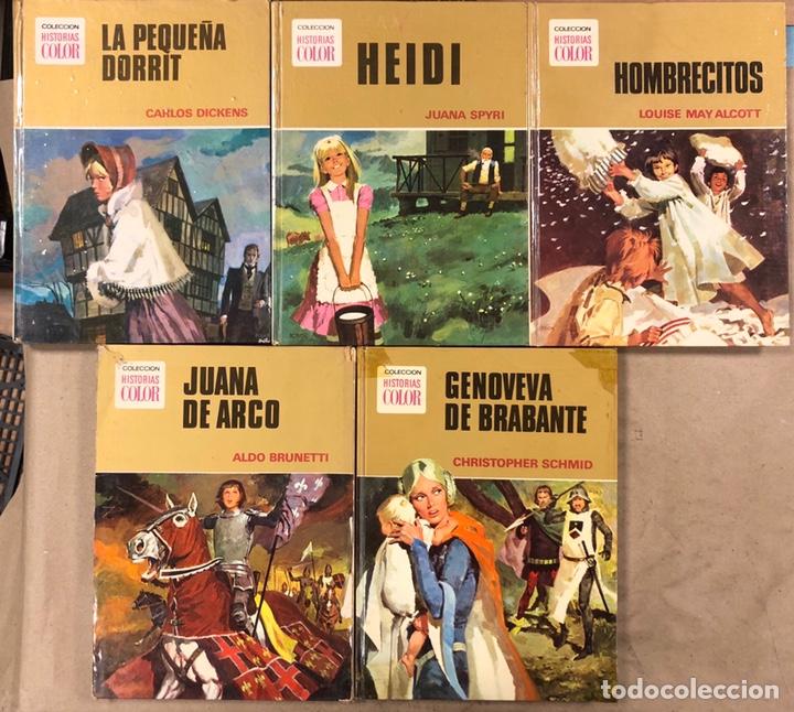 COLECCIÓN HISTORIAS DE COLOR, SERIE MUJERCITAS N° 1, 3,4, 5 Y 8. EDITORIAL BRUGUERA. (Tebeos y Comics - Bruguera - Otros)