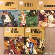 Tebeos: COLECCIÓN HISTORIAS DE COLOR, SERIE MUJERCITAS N° 1, 3,4, 5 Y 8. EDITORIAL BRUGUERA.. Lote 174984449