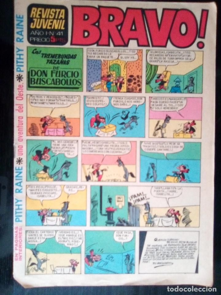 BRAVO - REVISTA JUVENIL- Nº 41 -AQUILES TALÓN-PITHY RAINE-PÁGINAS CLÁSICAS-1968-BUENO-DIFÍCIL-2391 (Tebeos y Comics - Bruguera - Bravo)
