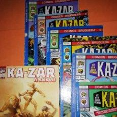 Tebeos: KA-ZAR . LOTE BRUGUERA Nº 2 AL Nº 7 Y FORUM Nº 3 DE KA-ZAR EL SALVAJE. NO SUELTOS.. Lote 175105492