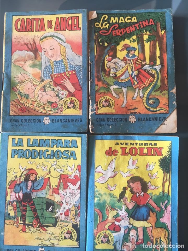 TESORO DE CUENTOS EDITORIAL BRUGUERA-GRAN COLECCIÓN BLANCANIEVES-SERIE 5, Nº 1,5,6,8 (Tebeos y Comics - Bruguera - Cuadernillos Varios)