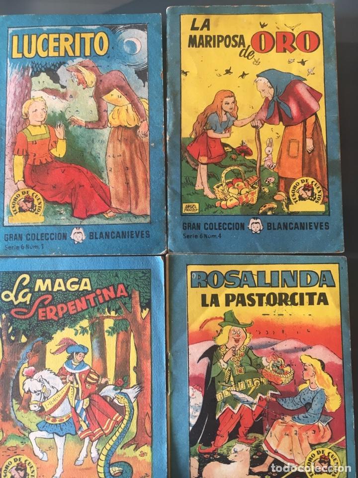 TESORO DE CUENTOS EDITORIAL BRUGUERA-GRAN COLECCIÓN BLANCANIEVES-SERIE 6, Nº 1,4,5,8 (Tebeos y Comics - Bruguera - Cuadernillos Varios)