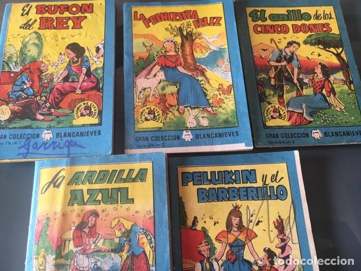 TESORO DE CUENTOS EDITORIAL BRUGUERA-GRAN COLECCIÓN BLANCANIEVES-SERIE 7 Nº 7 Y SERIE 8 Nº 2,5,7,8 (Tebeos y Comics - Bruguera - Cuadernillos Varios)