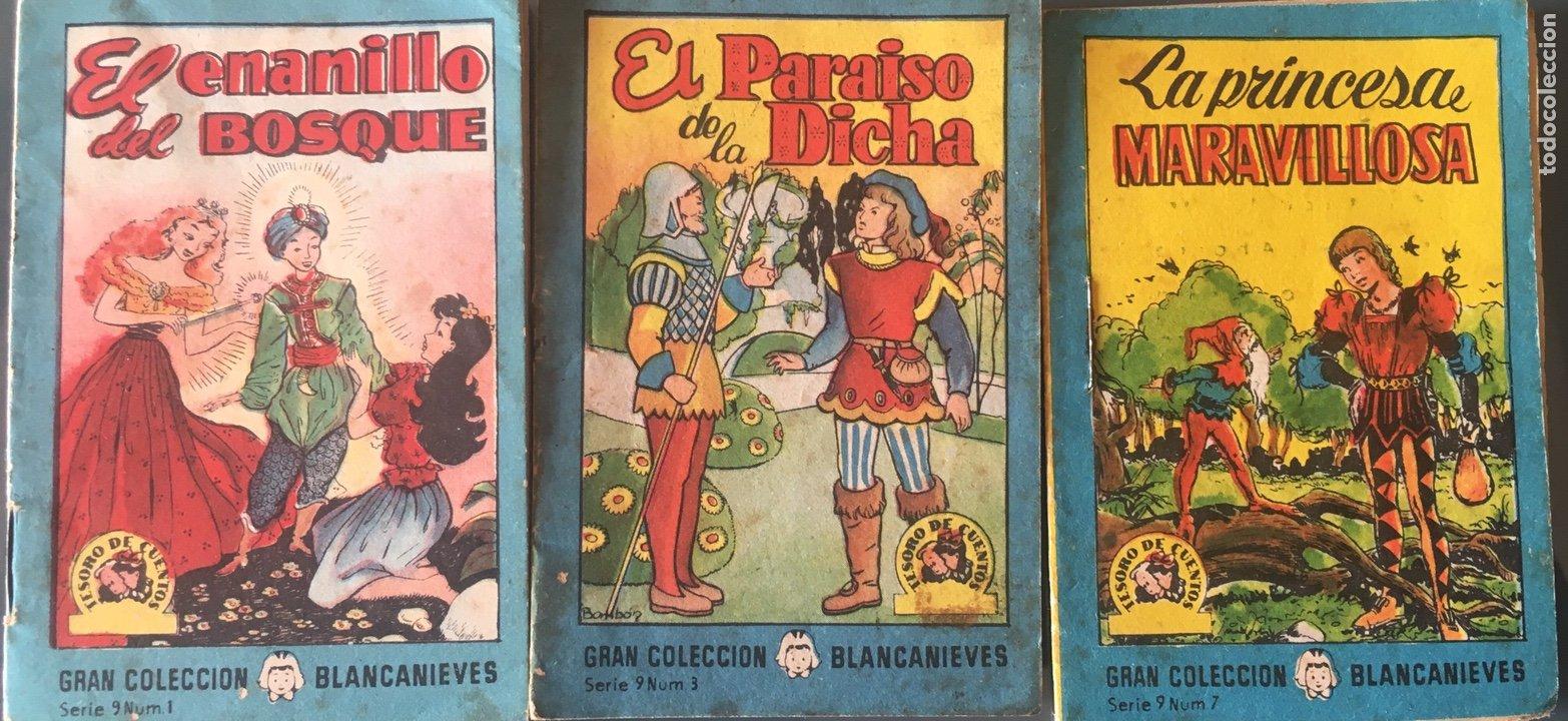 TESORO DE CUENTOS EDITORIAL BRUGUERA-GRAN COLECCIÓN BLANCANIEVES-SERIE 9 Nº 1,3,7 (Tebeos y Comics - Bruguera - Cuadernillos Varios)