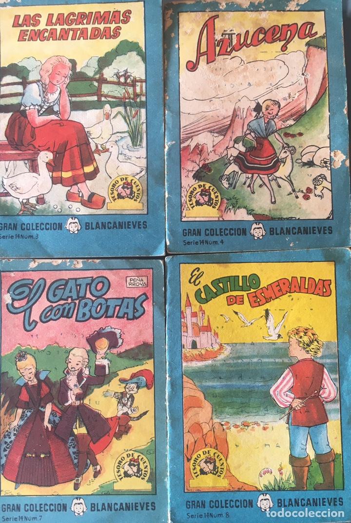 TESORO DE CUENTOS EDITORIAL BRUGUERA-GRAN COLECCIÓN BLANCANIEVES-SERIE 14 Nº 3,4,7,8 (Tebeos y Comics - Bruguera - Cuadernillos Varios)