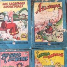 Tebeos: TESORO DE CUENTOS EDITORIAL BRUGUERA-GRAN COLECCIÓN BLANCANIEVES-SERIE 14 Nº 3,4,7,8. Lote 175214049
