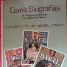 Tebeos: CÓMIC BIOGRAFÍAS -CARLOS V- MIGUEL ÁNGEL- DANTE-. Lote 175403444