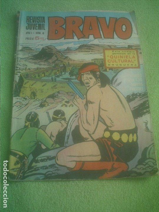 REVISTA JUVENIL BRAVO AÑO I Nº 8 BRUGUERA 1968 (Tebeos y Comics - Bruguera - Bravo)