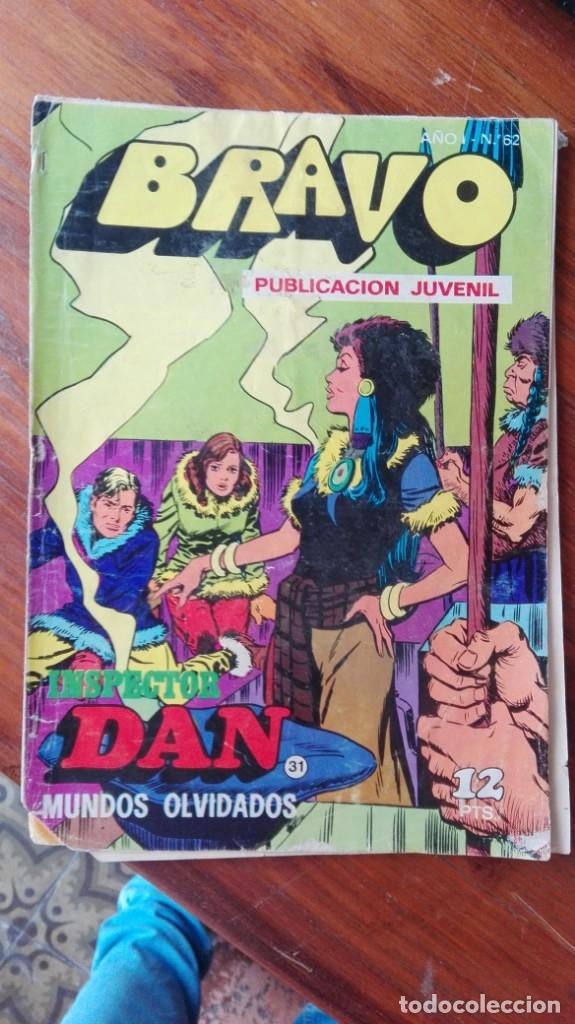 INSPECTOR DAN Nº 31. MUNDOS OLVIDADOS COLEC. BRAVO, NUM. 62. BRUGUERA (Tebeos y Comics - Bruguera - Otros)