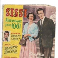 Tebeos: SISSI, ALMANAQUE PARA 1961 ES ORIGINAL, ESTE TEBEO ESTA RELACIONADO CON EL CINE EDITORIAL BRUGUERA. Lote 175565133