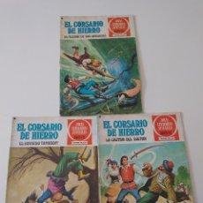 Tebeos: LOTE DE 3 CÓMICS EL CORSARIO DE HIERRO JOYAS LITERARIAS JUVENILES NÚMEROS 14,17 Y 27 PRIMERA EDICIÓN. Lote 175665422