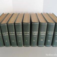 Tebeos: CAPITÁN TRUENO. 9 TOMOS. CUADERNOS 1958-1968. BRUGUERA. ENCUADERNADOS. COLECCIÓN COMPLETA.. Lote 175994764