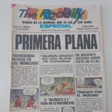 Tebeos: MORTADELO ESPECIAL PRIMERA PLANA NÚMERO 145 AÑO 1982. Lote 176093010