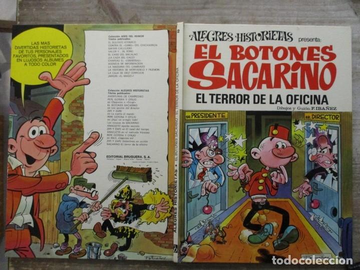 Tebeos: ALEGRES HISTORIETAS - EL BOTONES SACARINO - Nº 12 - EL TERROR DE LA OFICINA - BRUGUERA - Foto 2 - 176101615
