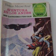 Tebeos: JOYAS LITERARIAS JUVENILES Nº 130 - AVENTURA EN LOS ANDES -THOMAS MAYNE REID - 1º EDICIÓN 1975. Lote 176124219