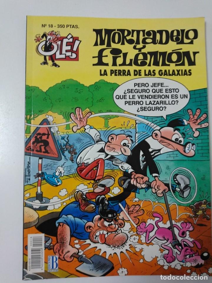MORTADELO Y FILEMÓN NÚMERO 18 COLECCIÓN OLÉ TAPA EN RELIEVE 1993 PRIMERA EDICIÓN (Tebeos y Comics - Bruguera - Mortadelo)