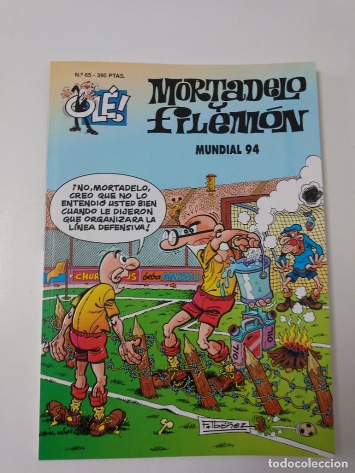 MORTADELO Y FILEMÓN NÚMERO 65 COLECCIÓN OLÉ TAPA EN RELIEVE 1995 SEGUNDA EDICIÓN (Tebeos y Comics - Bruguera - Mortadelo)