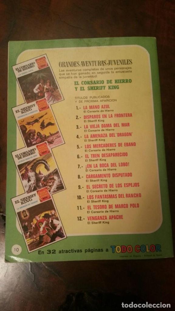 Tebeos: EL SHERIFF KING (GRANDES AVENTURAS JUVENILES Nº 10). LOS FANTASMAS DEL RANCHO. BRUGUERA 1971 - Foto 2 - 176413433