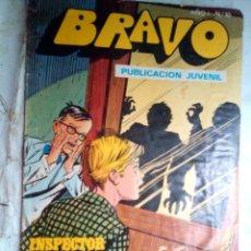 Tebeos: BRAVO-Nº 10 - INSPECTOR DAN-Nº 5 -1976-MAGISTRAL EUGENIO GINER-MUY REGULAR- VEAN Y LEAN-1970. Lote 176457553