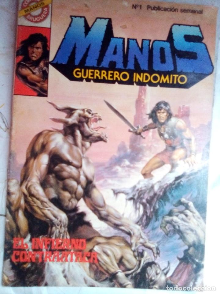 MANOS GUERRERO INDÓMITO - Nº 1 - CÓMICS BRUGUERA- 1984-ANTONIO CORREA-ESCASO-BUENO-LEAN-2011 (Tebeos y Comics - Bruguera - Otros)