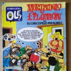 Tebeos: MORTADELO Y FILEMÓN EN CRECEPELO INFALIBLE (BRUGUERA, 1985). COLECCIÓN OLÉ! N°308. BRUGUERA EQUIP. Lote 177474960