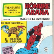 Tebeos: 5 SPIDERMAN-EL HOMBRE Y LA MUJER ARAÑA-HULK-AVENTURAS CINE- TV NUEVOS 12-24-25-26-27 AÑOS 80. Lote 177549983