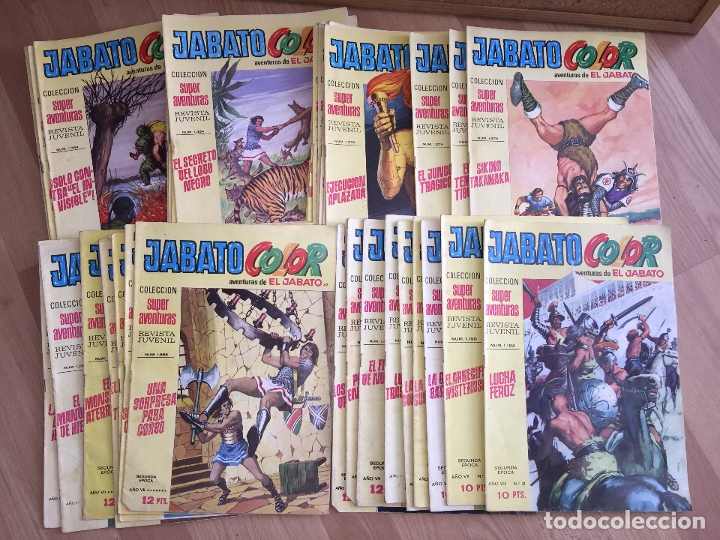 LOTE 48 NUMEROS JABATO COLOR (ENTRE EL 2 Y EL 130) - BRUGUERA, ORIGINAL - GCH (Tebeos y Comics - Bruguera - Jabato)